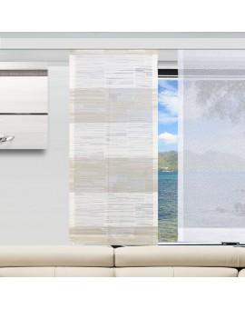 Caravan-Flächenvorhang Eske Weiß-Beige einzeln mit Flächengardine Sophie