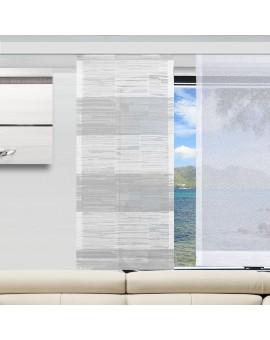 Caravan-Flächenvorhang Eske Weiß-Grau mit Fläche Sophie
