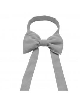 Schmuckschleife Hetty für Stuhlhussen und Stehtische Grau Einzeldarstellung