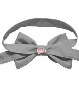 Schmuckschleife Hetty für Stuhlhussen und Stehtische Grau Rückseite