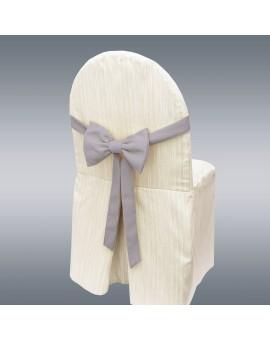 Schmuckschleife Hetty für Stuhlhussen und Stehtische Grau am Stul