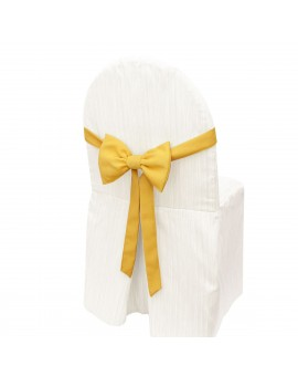 Schmuckschleife Hetty für Stuhlhussen und Stehtische Gelb