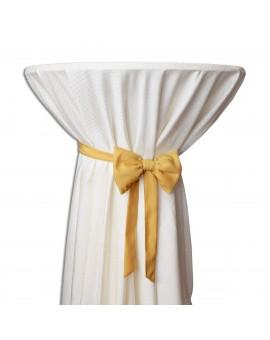 Schmuckschleife Hetty für Stuhlhussen und Stehtische Gelb an einem Stehtisch