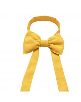 Schmuckschleife Hetty für Stuhlhussen und Stehtische Gelb Einzelansicht