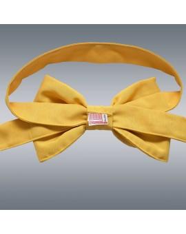 Schmuckschleife Hetty für Stuhlhussen und Stehtische Gelb Rückseite