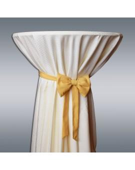 Schmuckschleife Hetty für Stuhlhussen und Stehtische Gelb Beispielbild