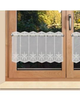 Scheibengardine Lena 30cm hoch für Bad oder Küche Plauener Stickerei