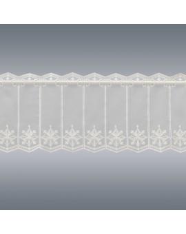 Scheibengardine Lena 30cm hoch für Bad oder Küche Plauener Stickerei ohne Hintergrund