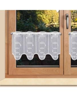 Scheibengardine Anja 30cm hoch für Bad oder Küche Plauener Stickerei
