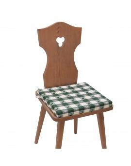 Sitzkissen Karo mit Hirsch grün-weiß komplett