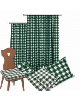 Sitzkissen Karo mit Hirsch grün-weiß komplett passende Produkte