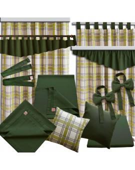 2er Set Dekoschal Hetty Grün kariert mit Rüsche alle passenden Produkte