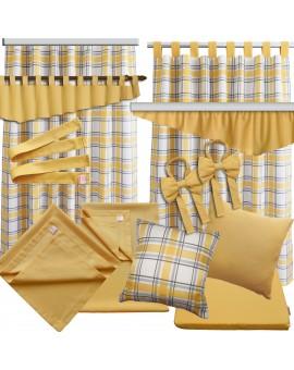2er Set Dekoschal Hetty Gelb kariert mit Rüsche alle passenden Produkte