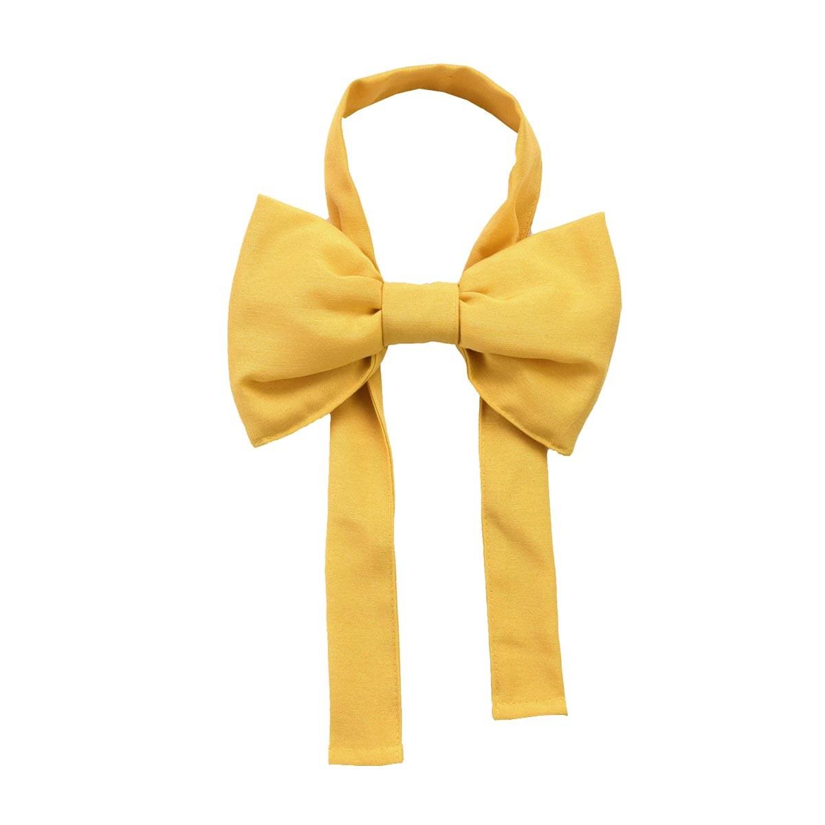 Schleifen-Raffhalter Hetty Gelb Raffband