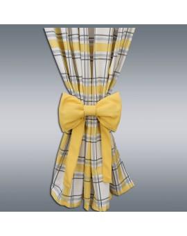 Schleifen-Raffhalter Hetty Gelb Raffband Musterbild