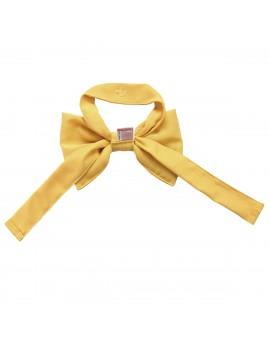 Schleifen-Raffhalter Hetty Gelb Raffband Rückseite