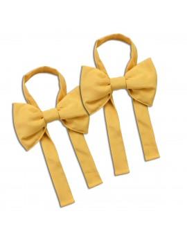 Schleifen-Raffhalter Hetty Gelb Raffband 2 Stück