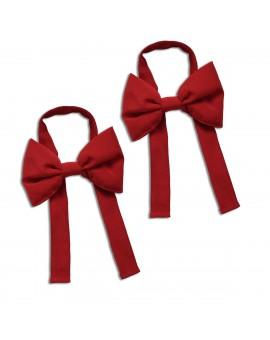 Schleifen-Raffhalter Hetty Rot Raffband 2 Stück