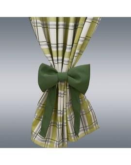 Schleifen-Raffhalter Hetty Grün Raffband Musterbild