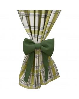 Schleifen-Raffhalter Hetty Grün Raffband Beispielbild