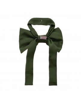Schleifen-Raffhalter Hetty Grün Raffband Rückseite