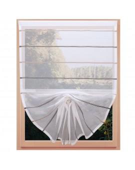Scheibenhänger Schwalbenschwanz Juna Organza Klettband am Fenster
