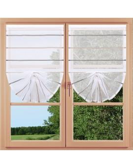 Scheibenhänger Schwalbenschwanz Juna Organza Klettband 2 Stück am Fenster