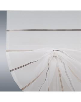 Scheibenhänger Schwalbenschwanz Juna Organza Detailansicht Raffung Klettband