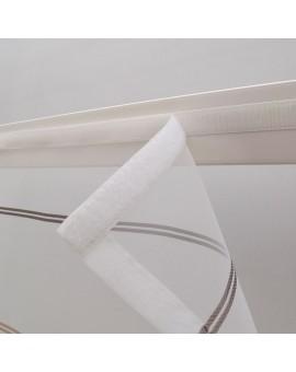 Scheibenhänger Schwalbenschwanz Juna Organza Klettband Flauschband Detail Klettband