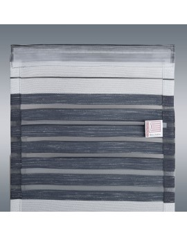 """Flächengardine """"Aiko"""" 20cm breit grau gestreift für Caravan Wohnwagenvorhang Ansicht Rückseite"""