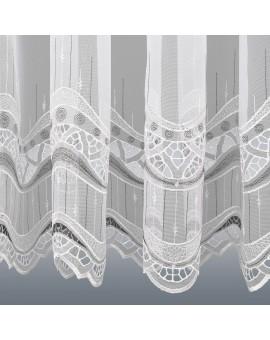 Gardinenstore Luisa mit Stickerei-Kante Detailansicht Unterkante