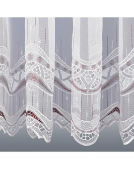 Gardinenstore Luisa mit Stickerei-Kante Bordeaux Detailbild Unterkante