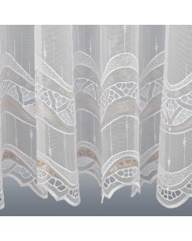 Gardinenstore Luisa mit Stickerei-Kante Beige Nahansicht Stickereikante