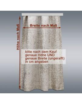 Wohnmobil-Vorhang LUCA beige mit Maßen