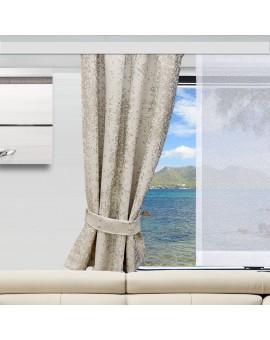 Wohnmobil-Vorhang LUCA beige mit Flächengardine Anna