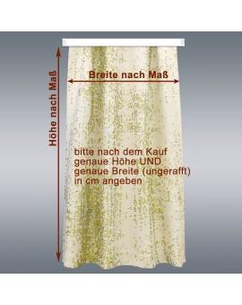 Wohnmobil-Vorhang LUCA grün mit Maßen