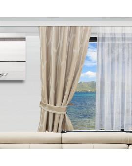 Wohnmobil-Vorhang Nautis beige an einem Caravan-Fenster
