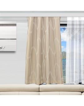 Wohnmobil-Vorhang Nautis beige als Gardine zur Verdunklung
