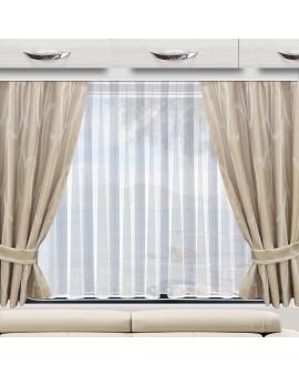 Wohnmobil-Vorhang Nautis beige Beispielbild mit 2 Stück und einem Wohnwagenstore