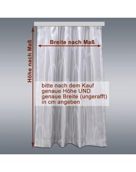 Wohnmobil-Vorhang Nautis hellgrau mit Maßangaben