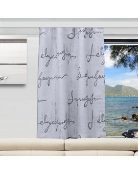 Wohnmobil-Vorhang IVO grau