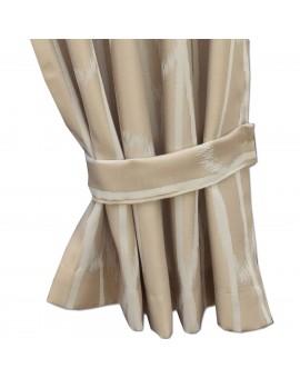 Raffhalter NAUTIS beige Beispielbild mit Vorhang