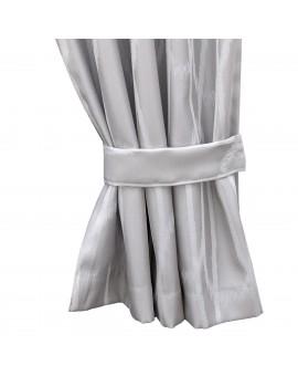 2 Raffhalter NAUTIS hellgrau Beispielbild mit passendem Vorhang