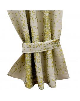 Raffhalter LUCA grün Beispielbild mit passendem Vorhang