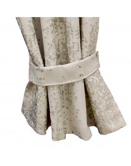 2 Raffhalter LUCA beige Beispielbild mit passendem Vorhang