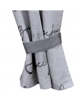 2 Raffhalter IVO grau Beispielbild mit passendem Vorhang