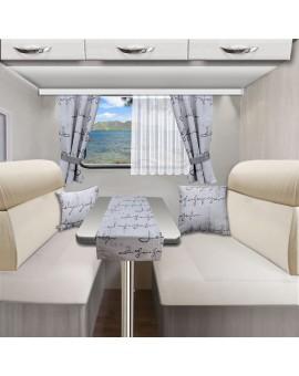Tischläufer Tischdecke IVO grau für Wohnmobil Caravan 40x120 alle passenden Produkte