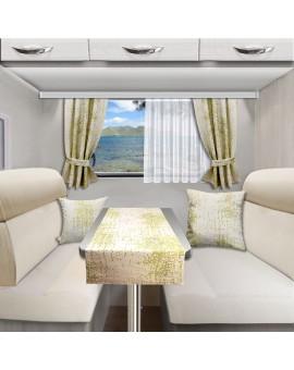 Tischläufer Tischdecke LUCA grün für Wohnmobil Caravan 40x120 cm alle passenden Produkte