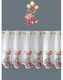 Kinderzimmerdeko kinder scheibengardine teddy pink for Scheibengardine kinder