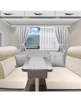 Tischläufer Tischdecke NAUTIS hellgrau für Wohnmobil Caravan 40x120 cm alle passenden Produkte
